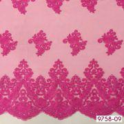 Tecido Renda Floral Sultache Pink