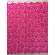 Tecido Renda Guippure Pink