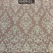 Tecido Renda Tule Arabesco Bordada Em Linhas Branca