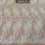 Tecido Renda Tule Bordado Branco