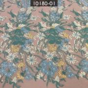 Tecido Renda Tule Floral Estampado Cana/Bebe