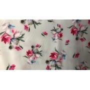 Tecido Seda Begonia Estampada Estampa 1