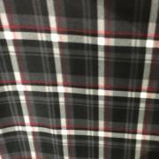 Tecido Soft Xadrez Cinza/Vermelho