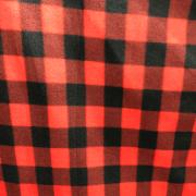 Tecido Soft Xadrez Vermelho/Preto