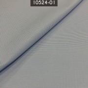Tecido Tricoline Mista Listrada Azul Claro