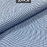 Tecido Tricoline Mista Xadrez Azul
