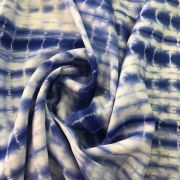 Tecido Viscose Estampada 100% Viscose Tie Dye - Royal