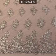 Tecidos Renda Tule Floral Bordado Em Linhas Rose
