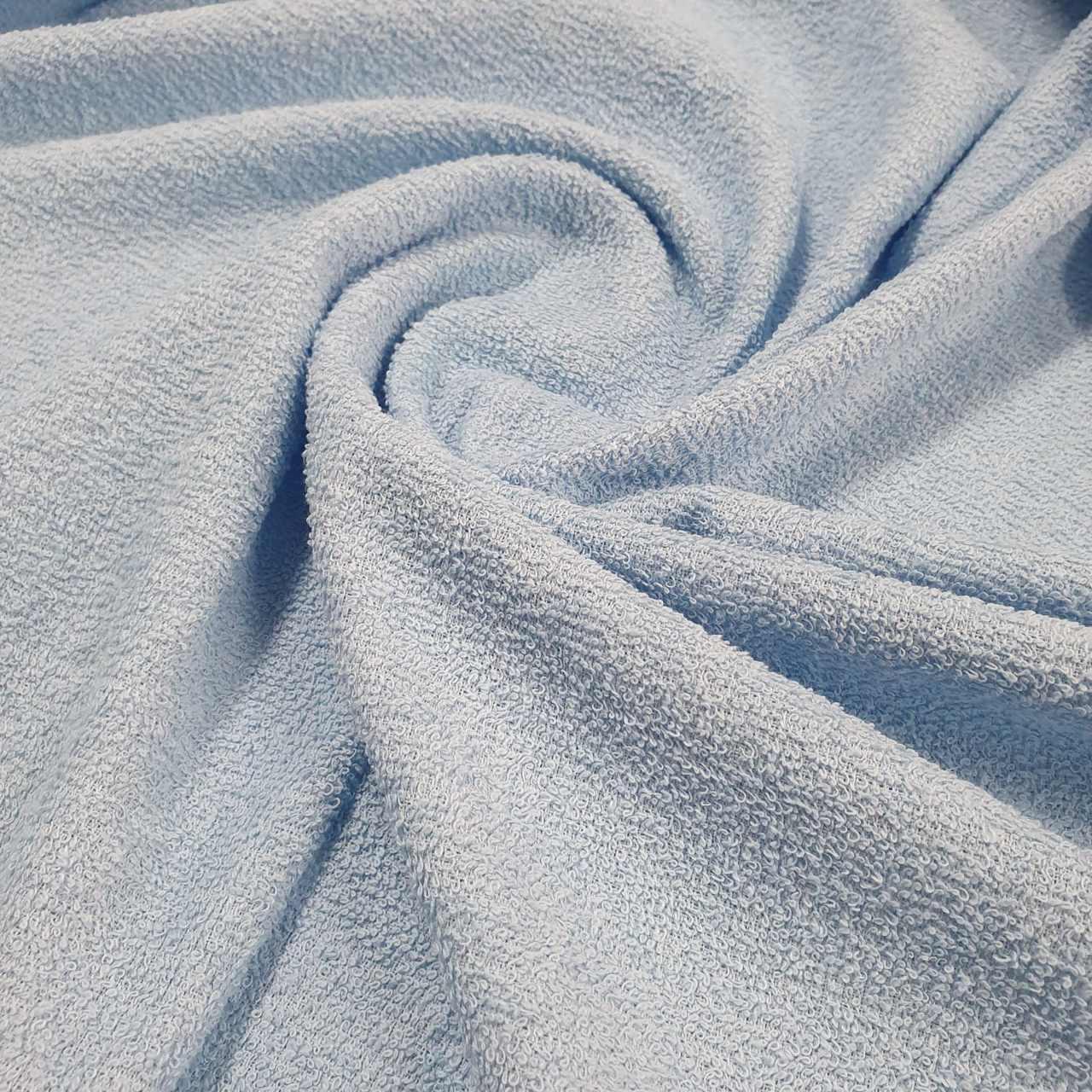 Tecido Atoalhado Felpudo 100% Algodão Azul