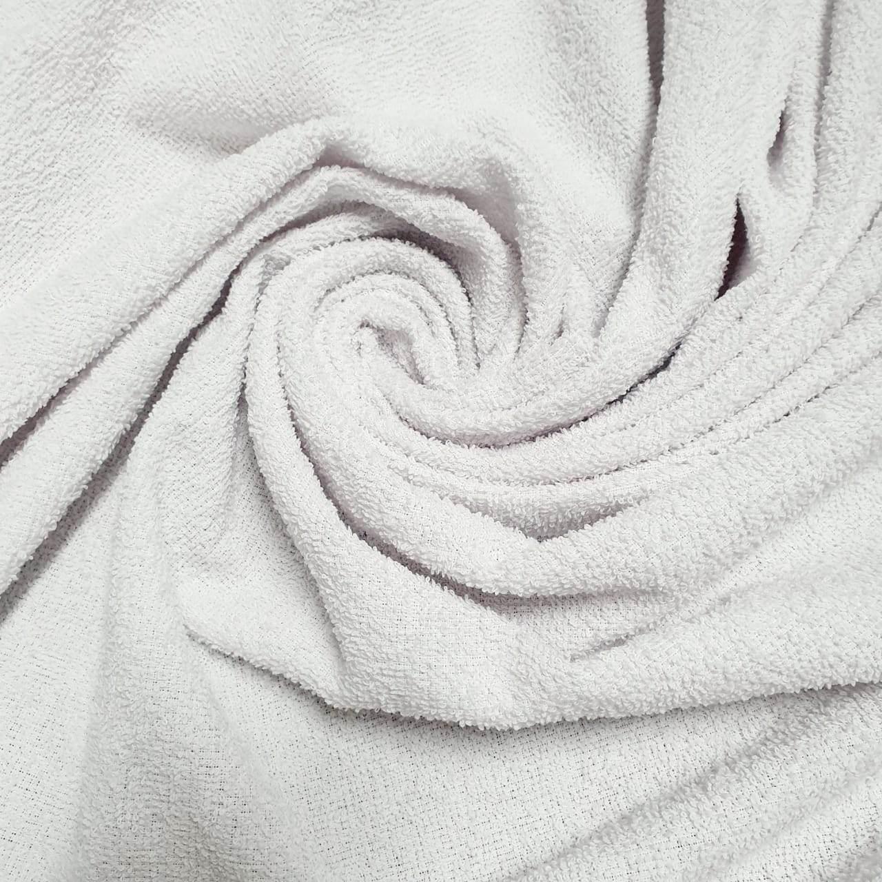 Tecido Atoalhado Felpudo 100% Algodão Branco