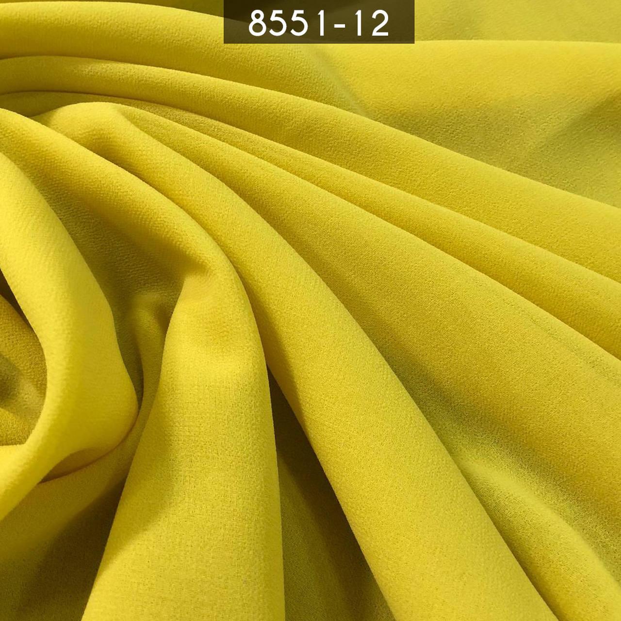 Tecido Musseline Toque de Seda Amarelo