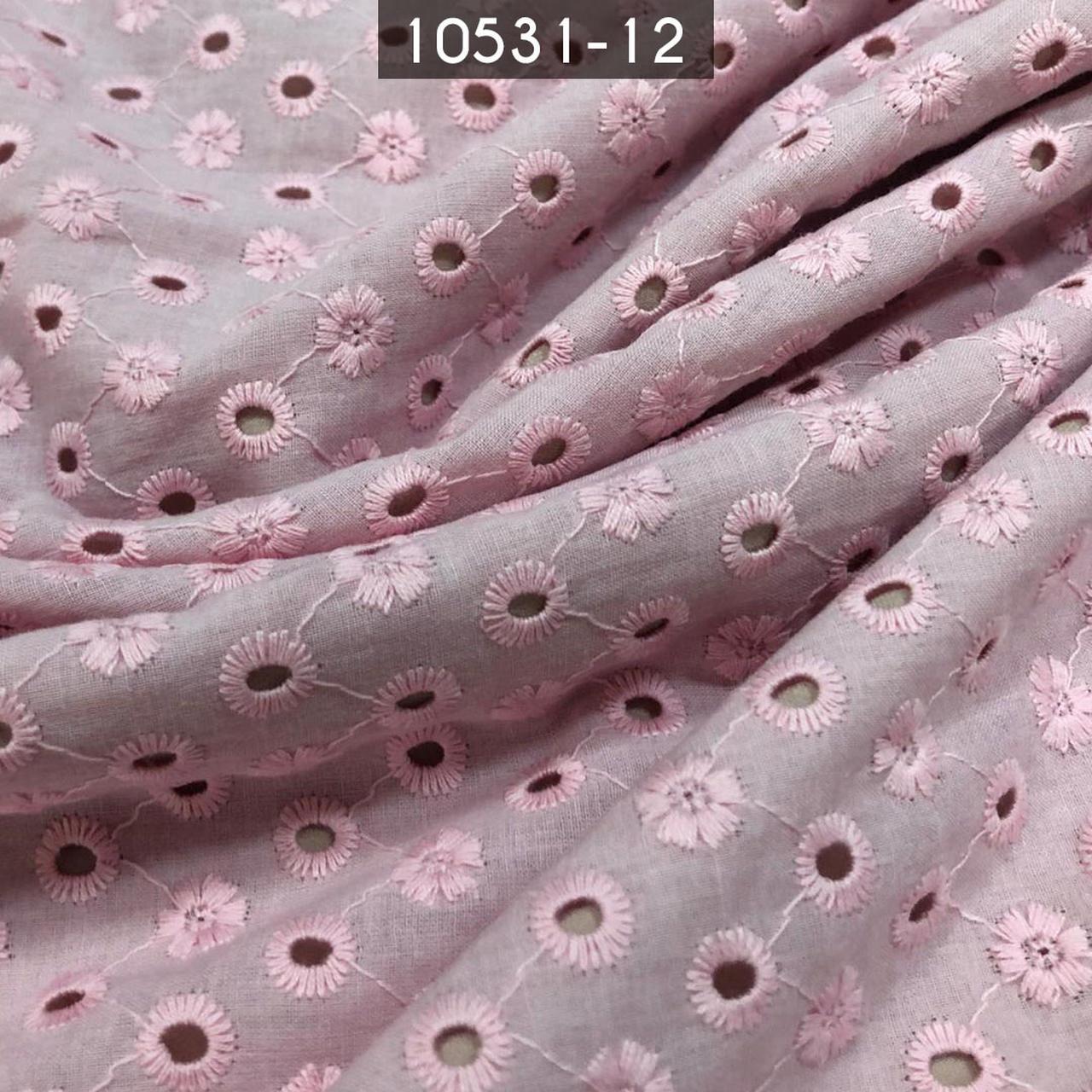 Tecido Laise A1071 Algodão Rosa