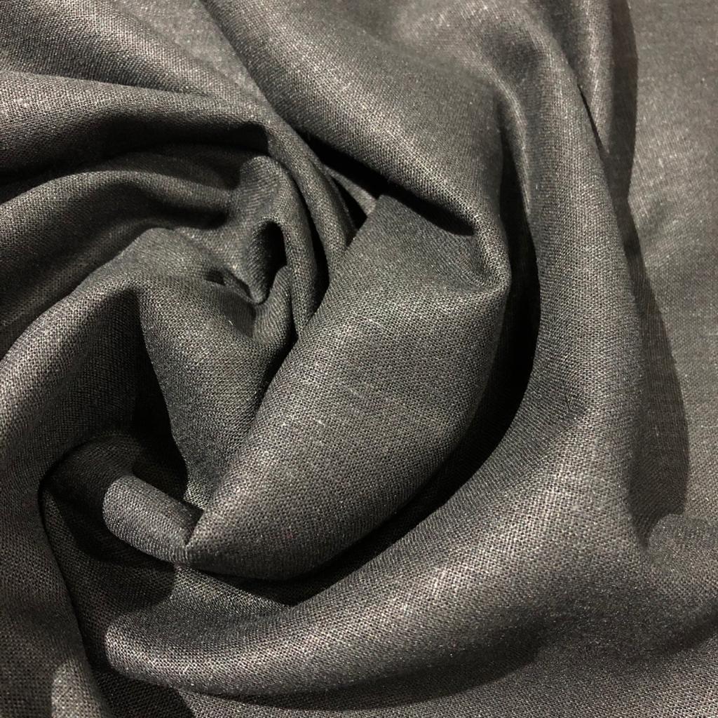 Tecido Linho Misto Colors Preto