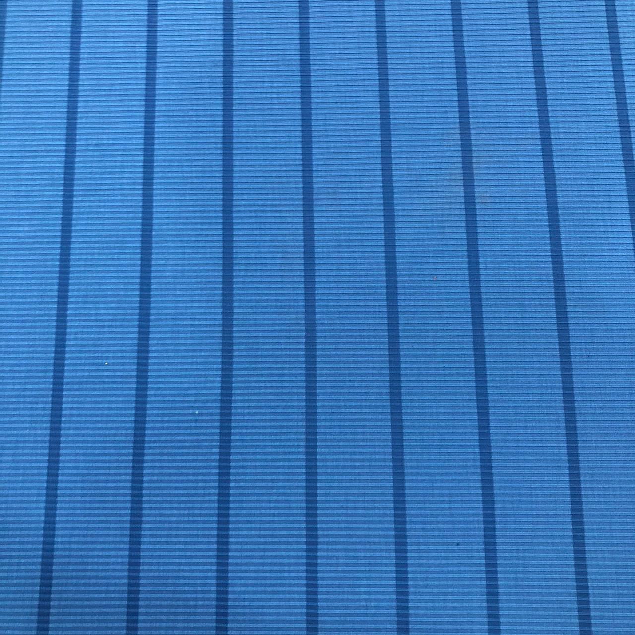 Tecido Malha Cotele Canelada 96%Poliéster 4%Elastano Azul