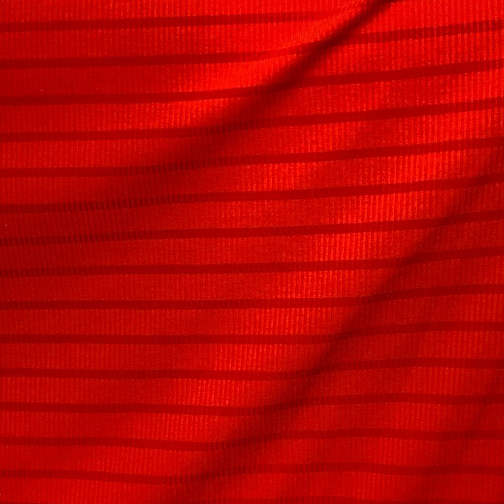 Tecido Malha Cotele Canelada 96%Poliéster 4%Elastano Coral