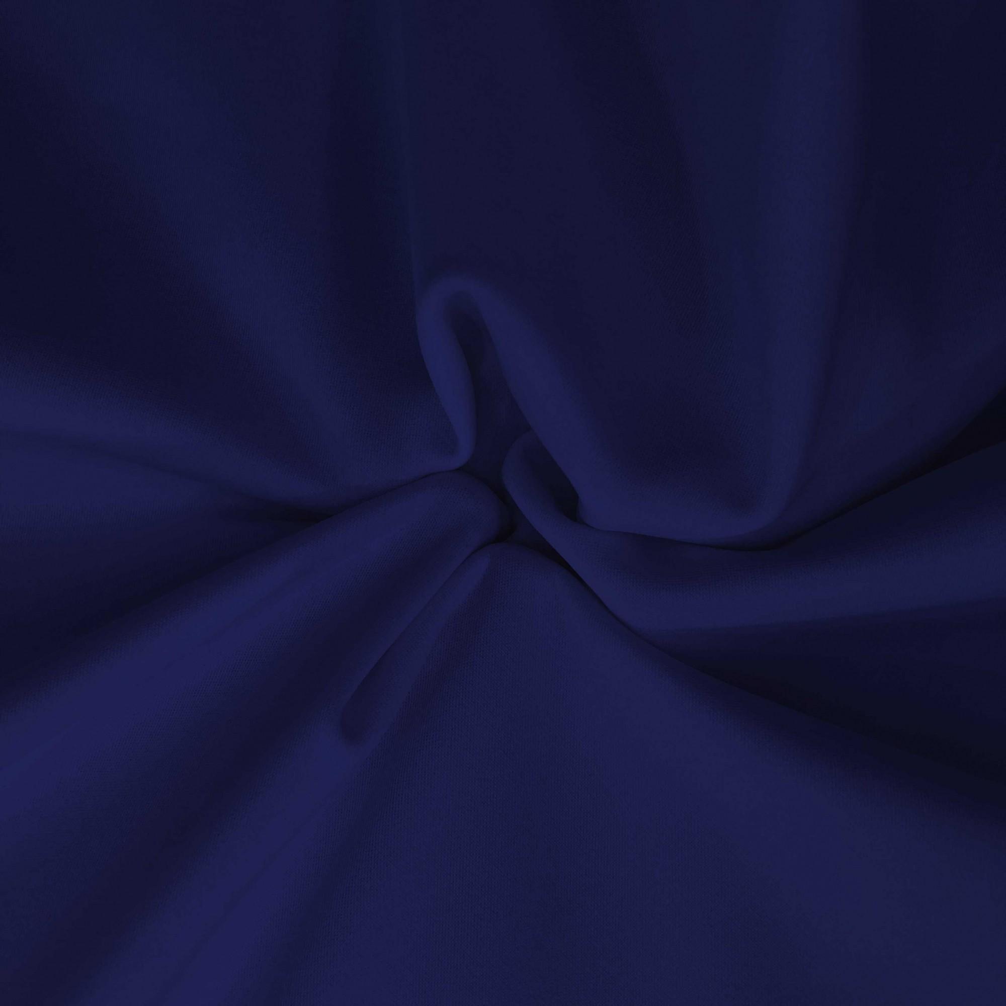 Tecido Malha Neocrepe Liso 97%Poliéster 3%Elastano Azul Marinho