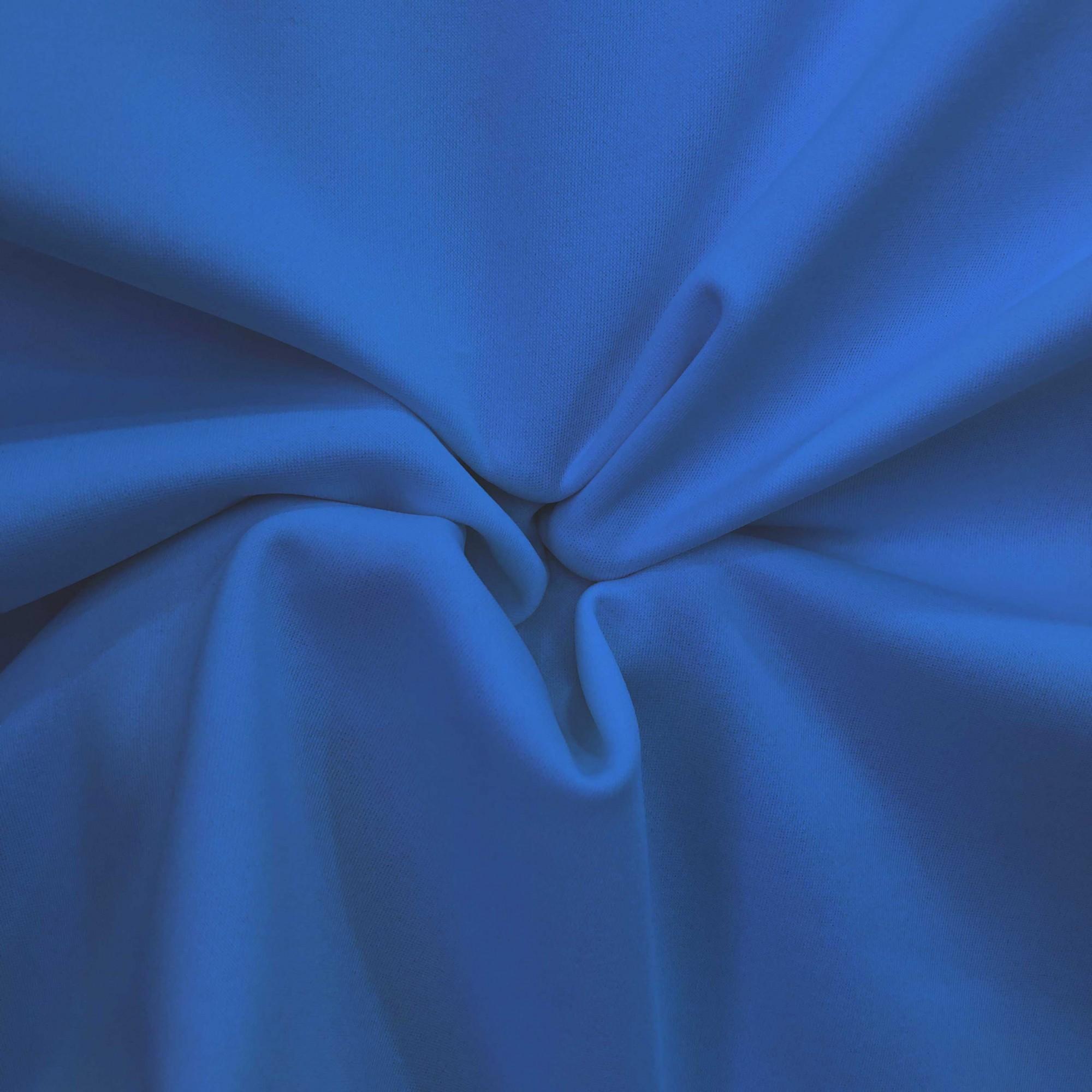 Tecido Malha Neocrepe Liso 97%Poliéster 3%Elastano Azul Royal