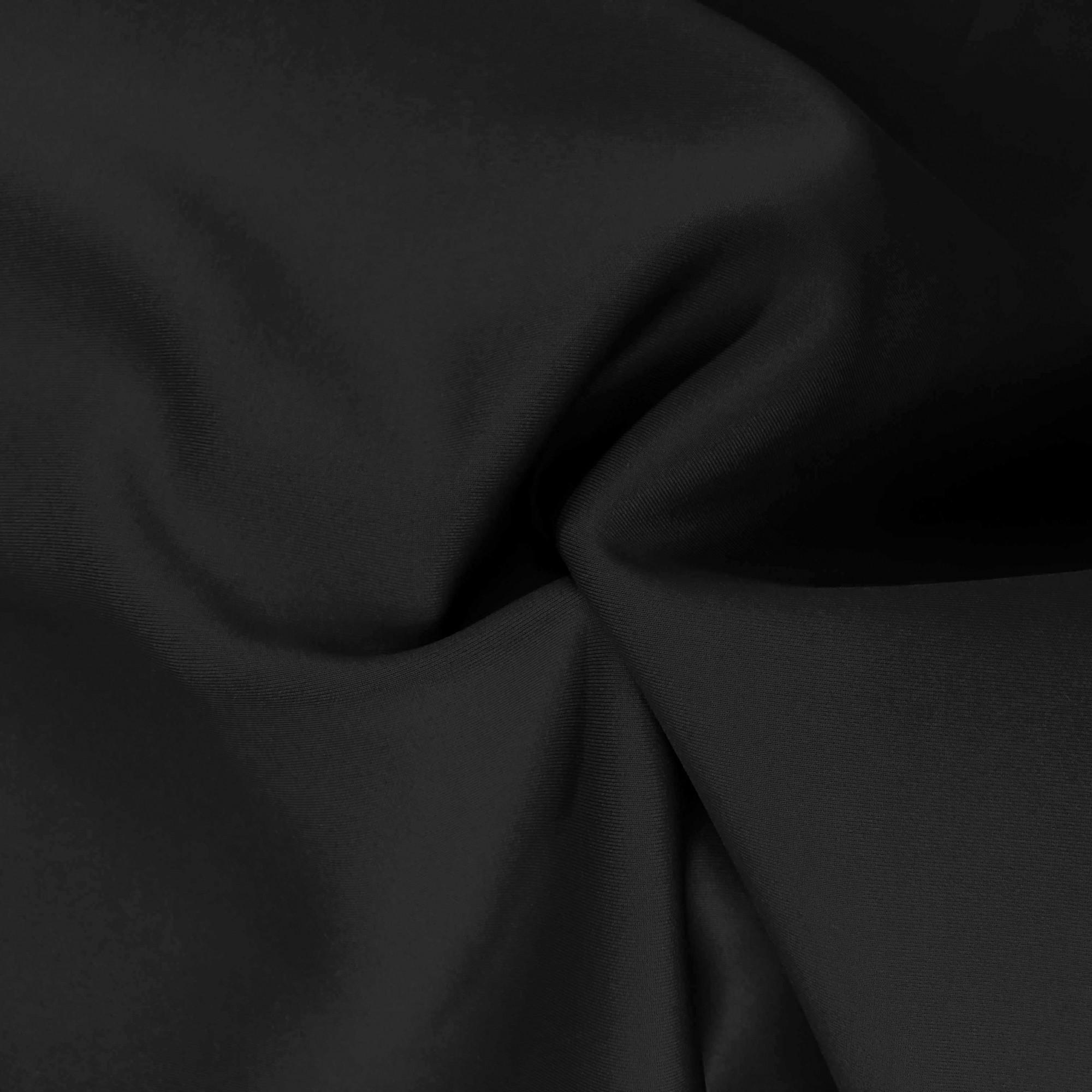 Tecido Malha Neocrepe Liso 97%Poliéster 3%Elastano Preto