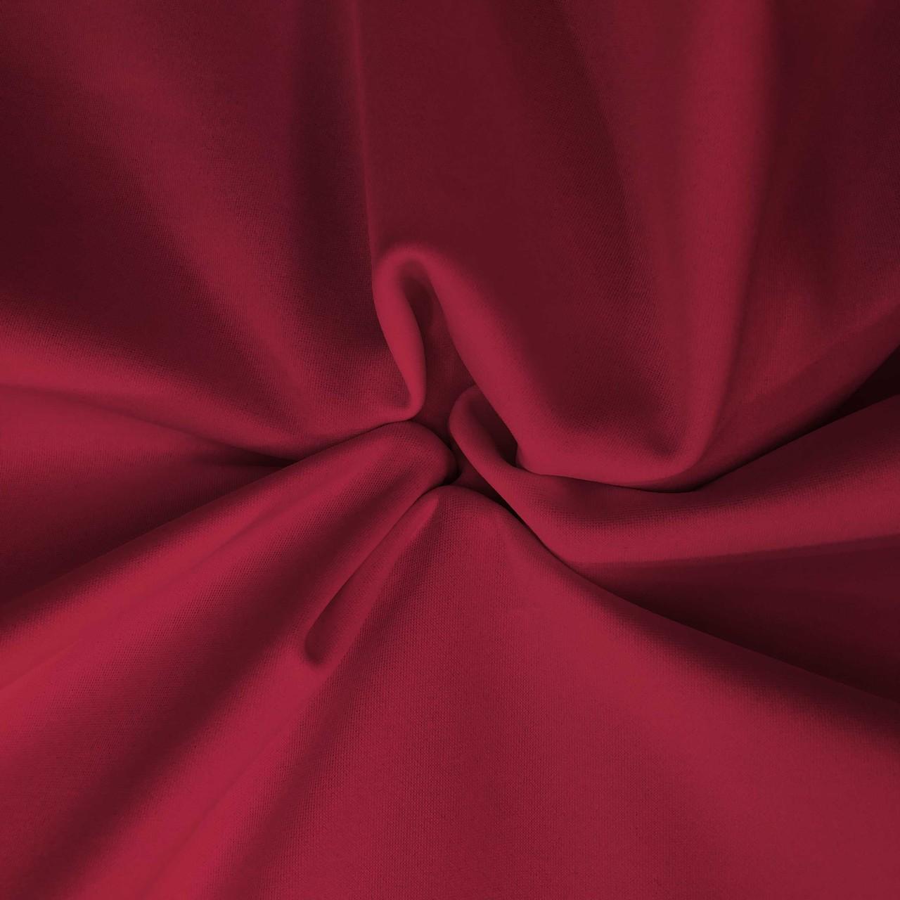 Tecido Malha Neocrepe Liso 97%Poliéster 3%Elastano Vermelho