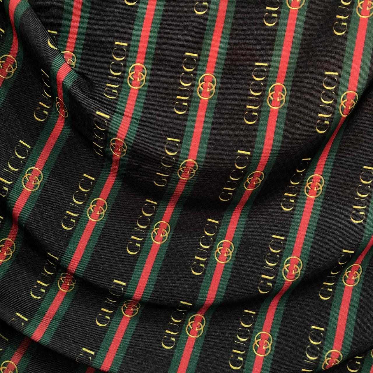 Tecido Malha Slinky Estampado 92%Poliéster 8%Elastano Gucci