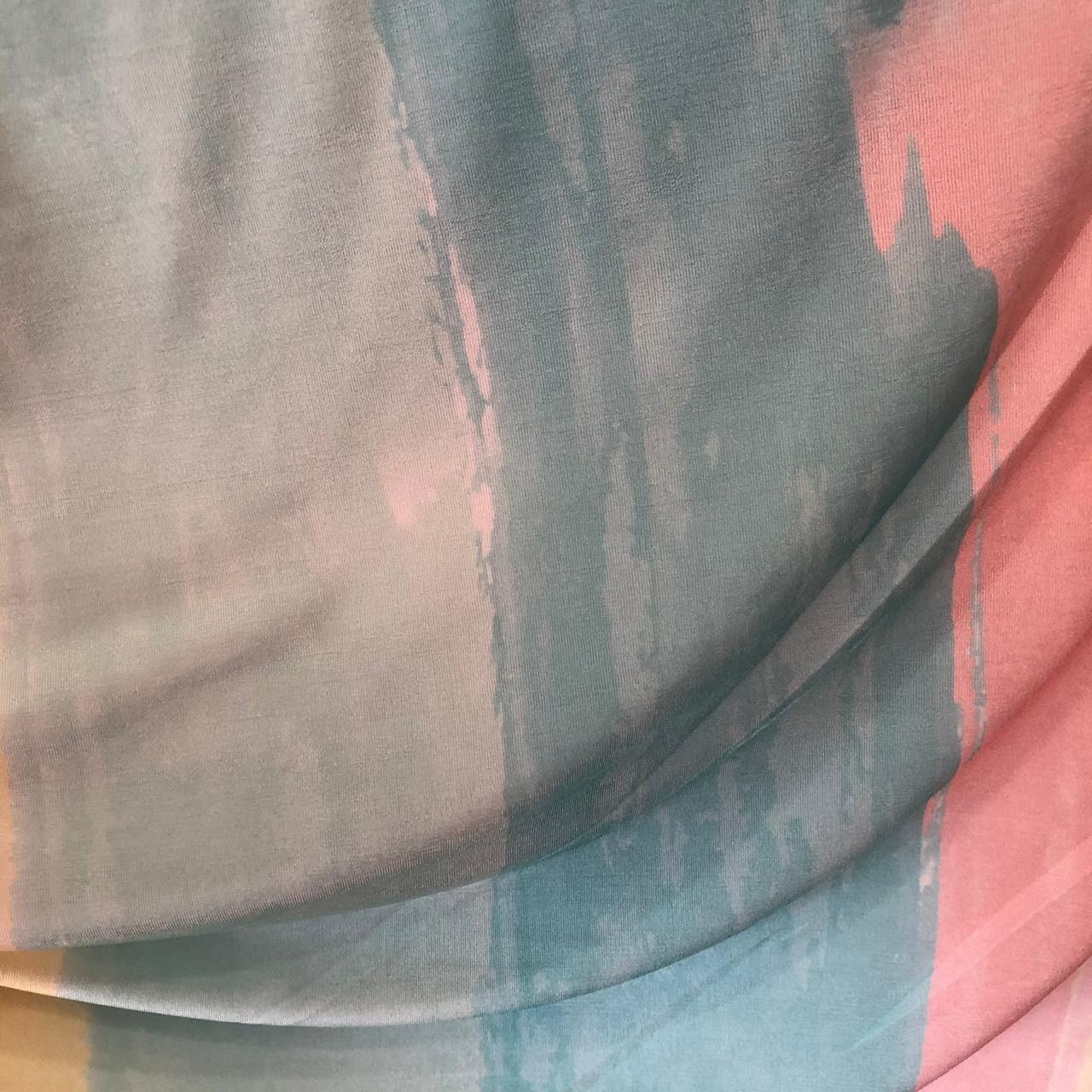 Tecido Malha Slinky Estampado 92%Poliéster 8%Elastano Tie Dye