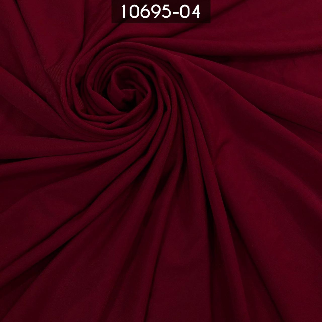 Tecido Malha Liga Light 10695 96%Poliéster 4%Elastano Marsala