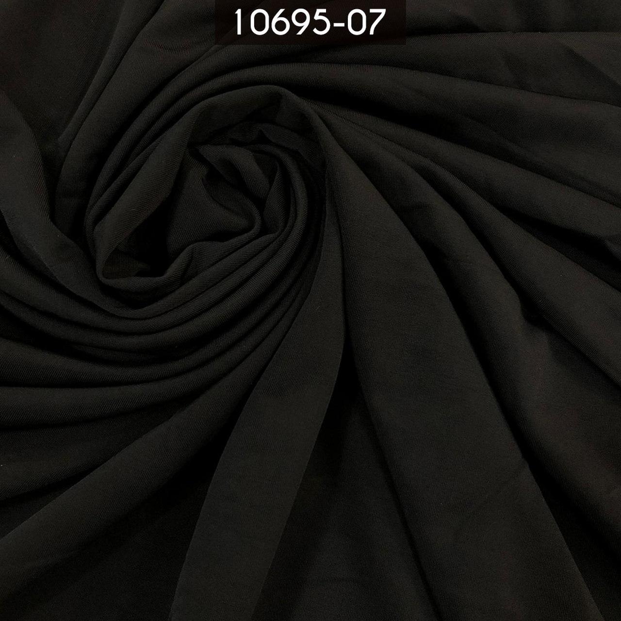 Tecido Malha Liga Light 10695 96%Poliéster 4%Elastano Preto