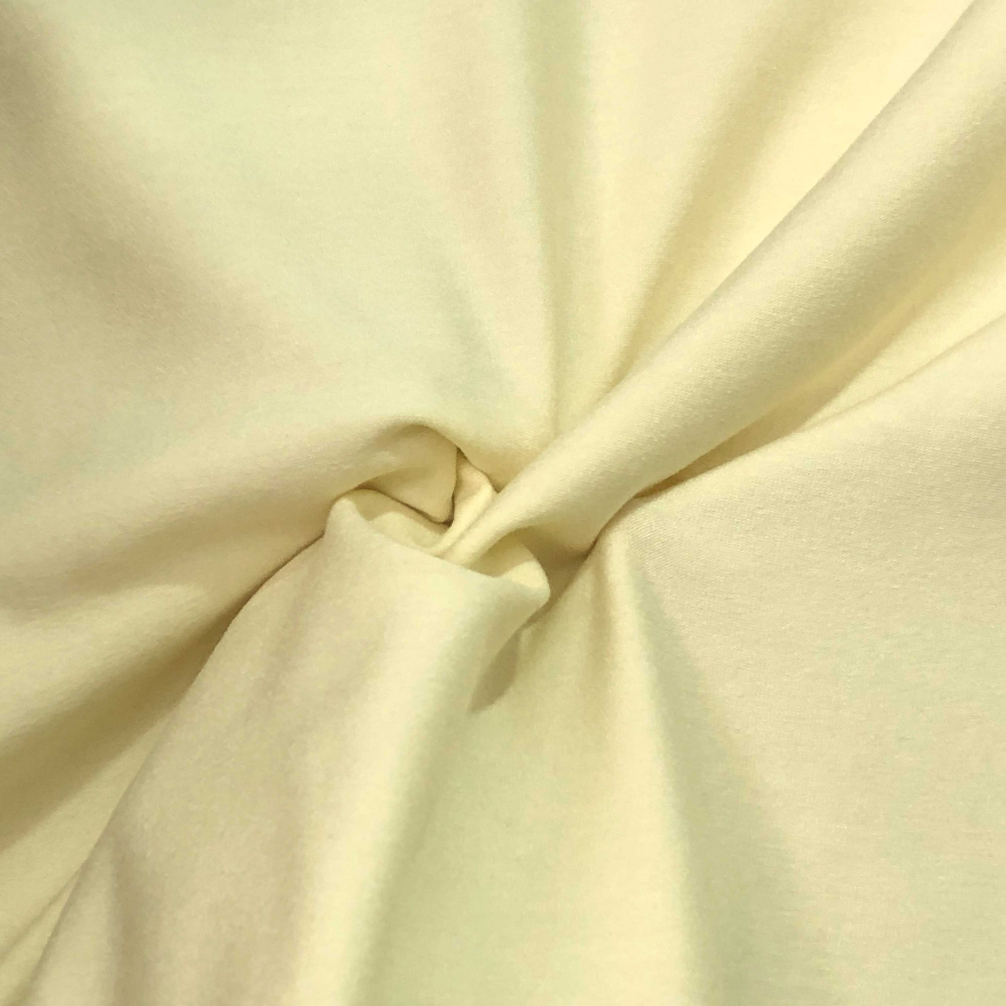 Tecido Malha Viscolycra  92%Viscose 8%Elastano Amarelo Bebê