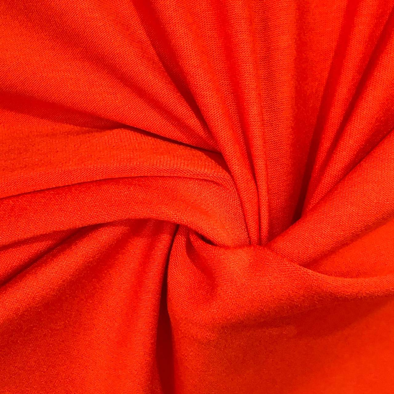 Tecido Malha Viscolycra  92%Viscose 8%Elastano Laranja