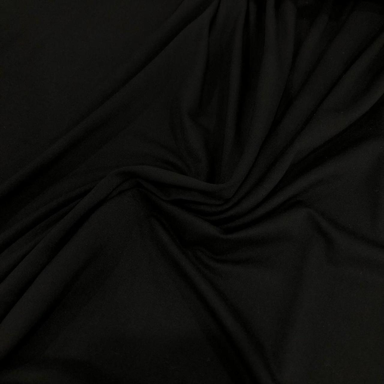 Tecido Malha Viscolycra  92%Viscose 8%Elastano Preto