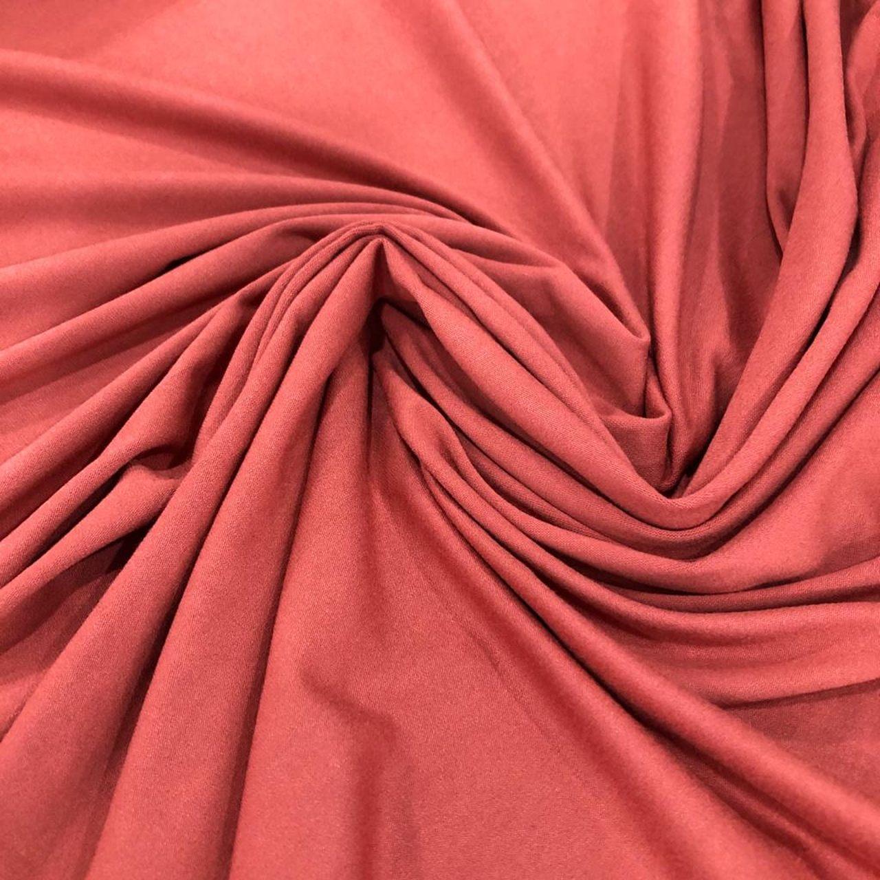 Tecido Malha Viscolycra  92%Viscose 8%Elastano Terracota
