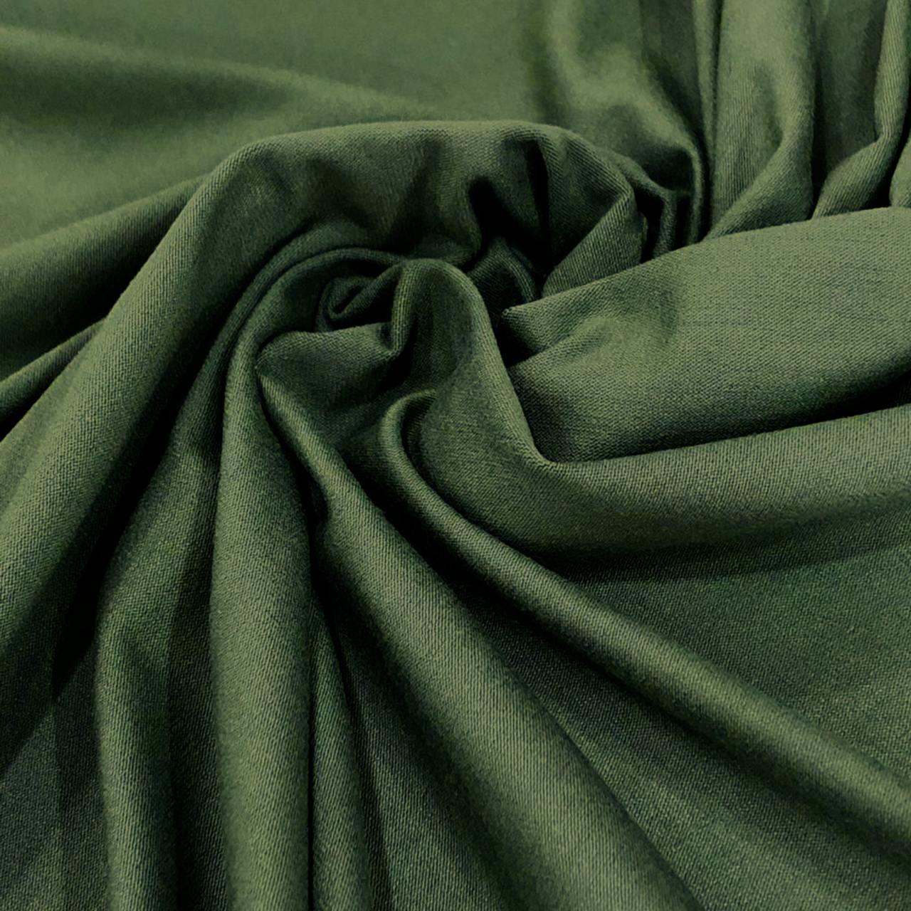 Tecido Malha Viscolycra  92%Viscose 8%Elastano Verde Militar