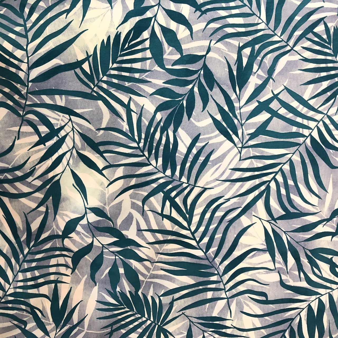 Tecido Malha Viscolycra  95%Viscose 5%Elastano Tropical Verde Agua