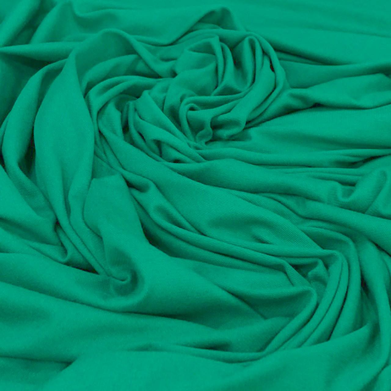 Tecido Moletinho Em Viscose 94%Viscose 6%Elastano Verde