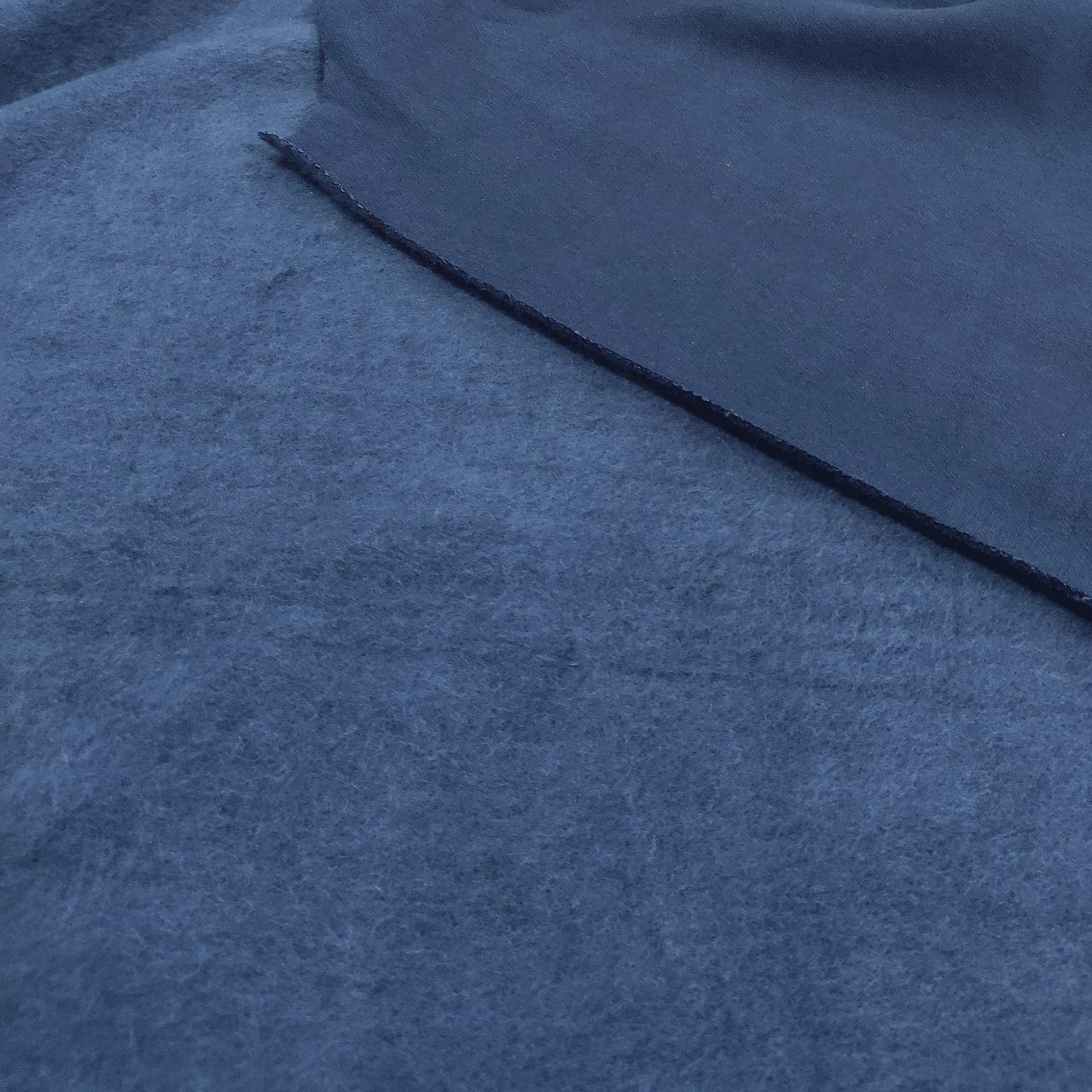 Tecido Moletom Flanelado 50%Algodão 50%Poliéster Azul Marinho