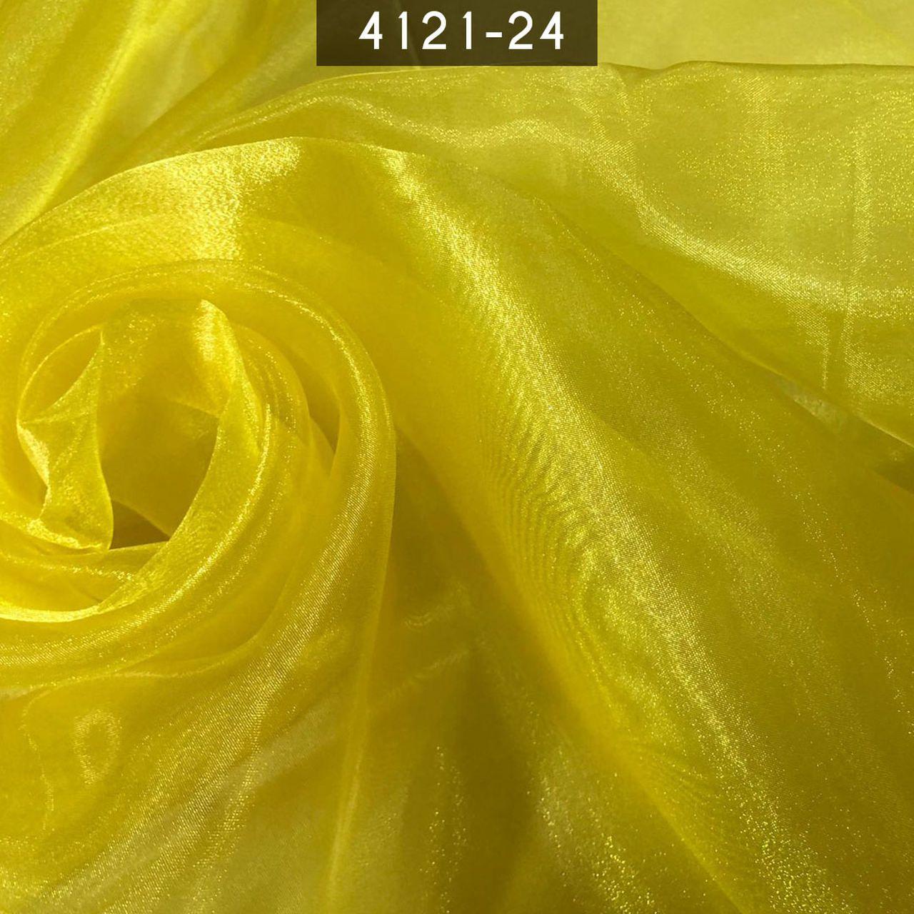 Tecido Organza Cristal 100% Poliéster Amarela