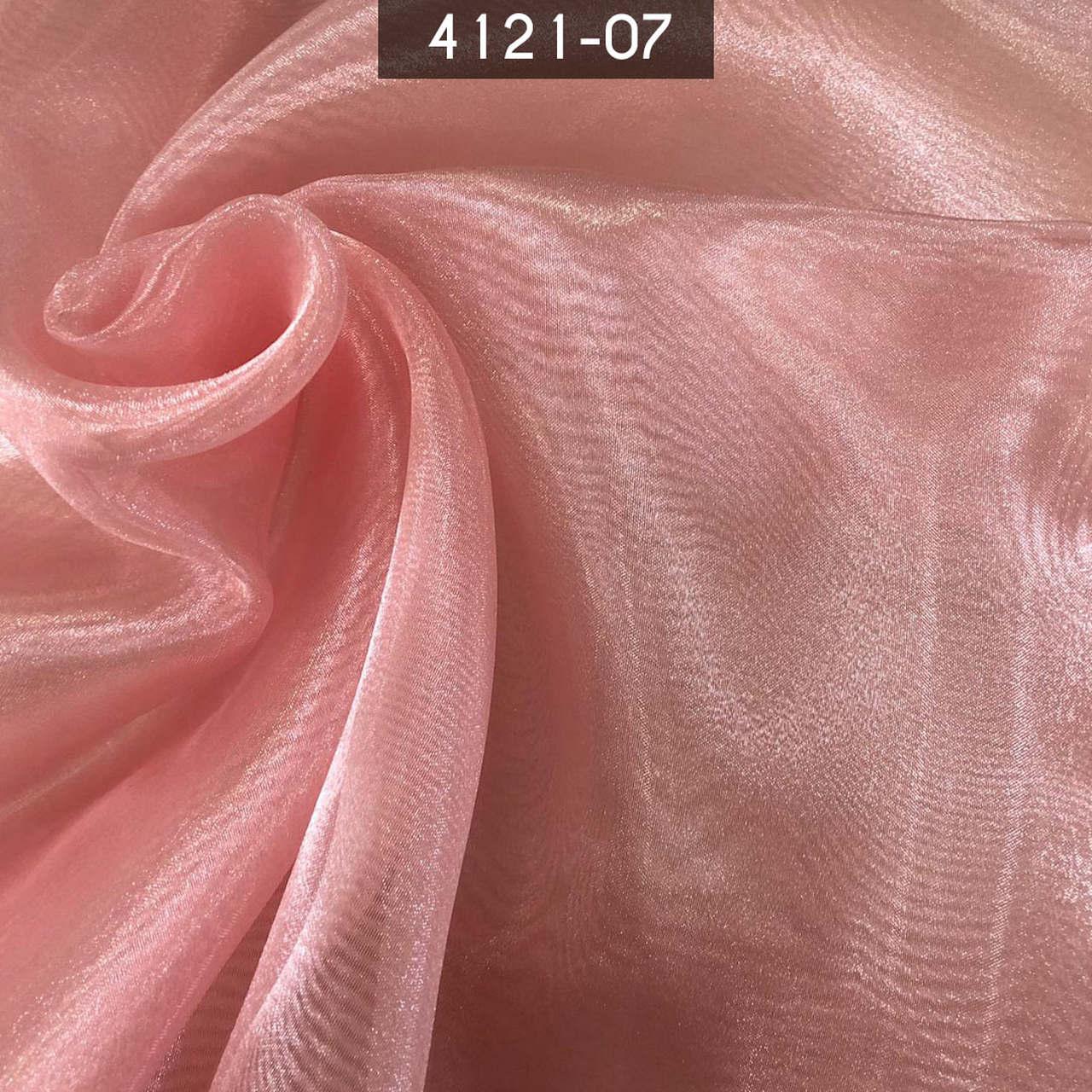 Tecido Organza Cristal 100% Poliéster Rosa