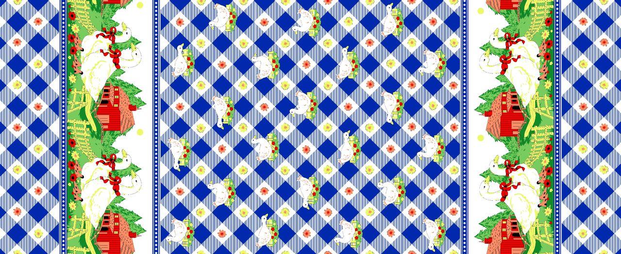 Tecido Oxford Natalino Azul