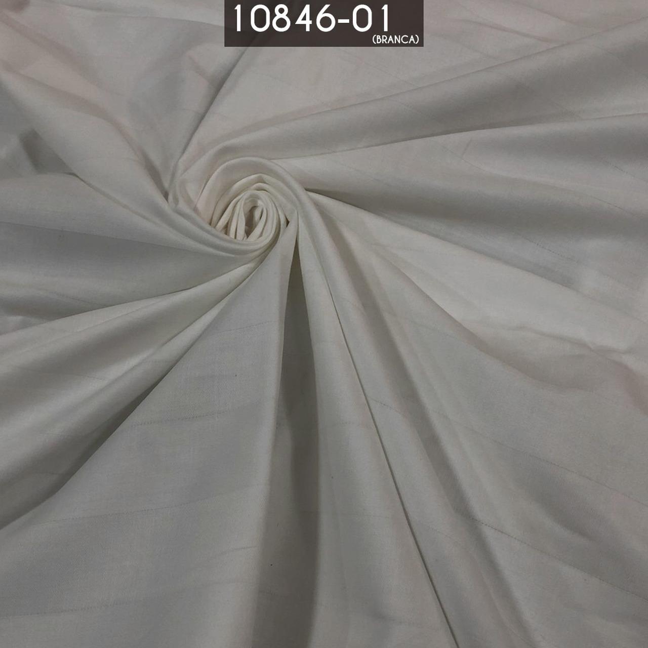 Tecido Percal 300 Fios Branco