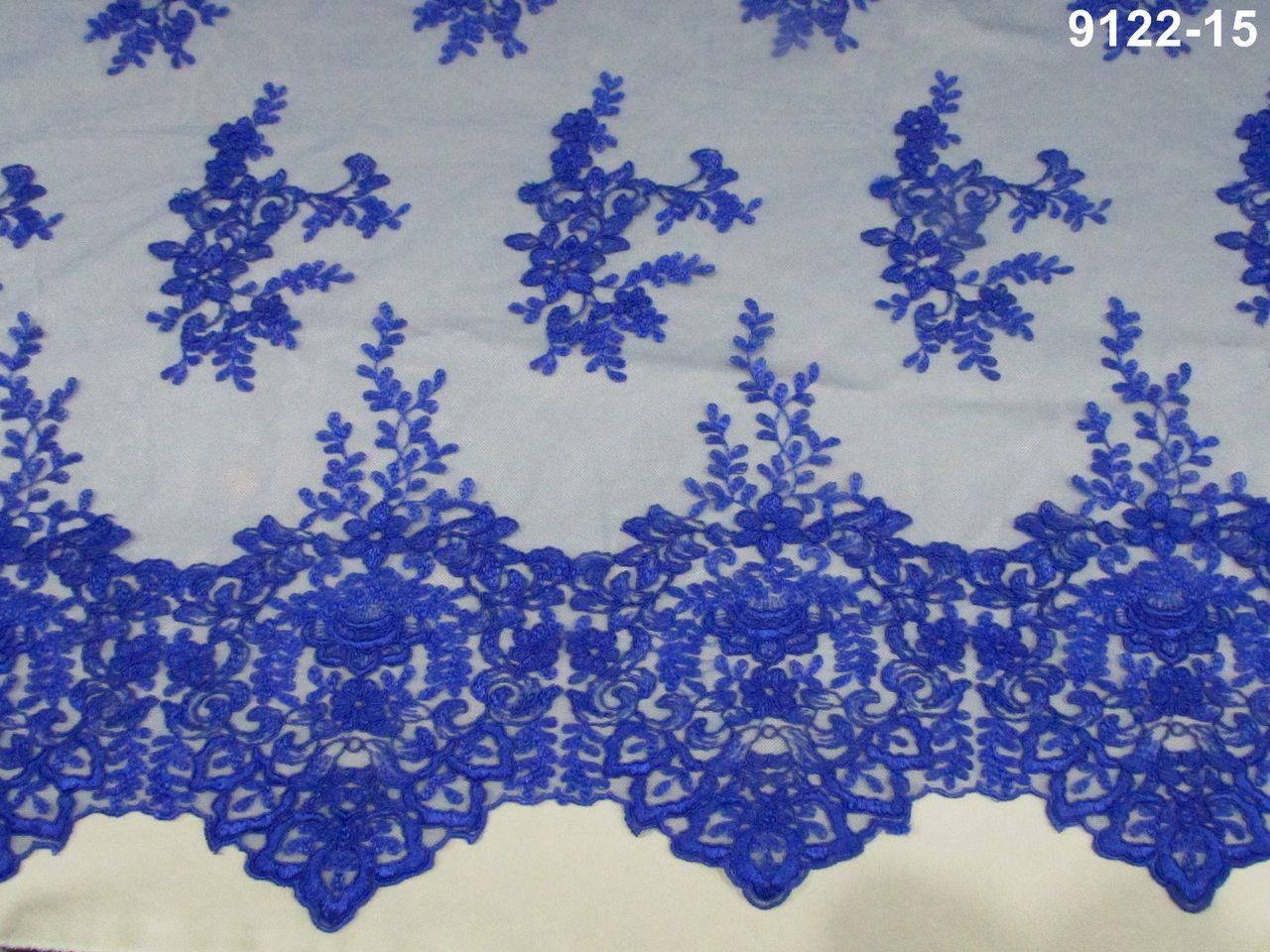 Tecido Renda Floral Royal