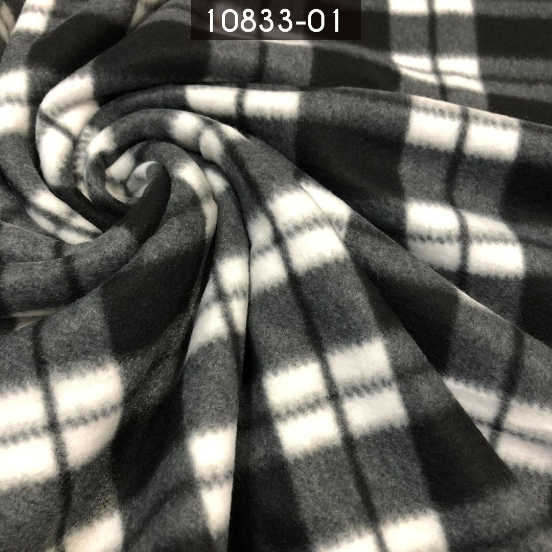 Tecido Soft Estampado Xadrez Preto