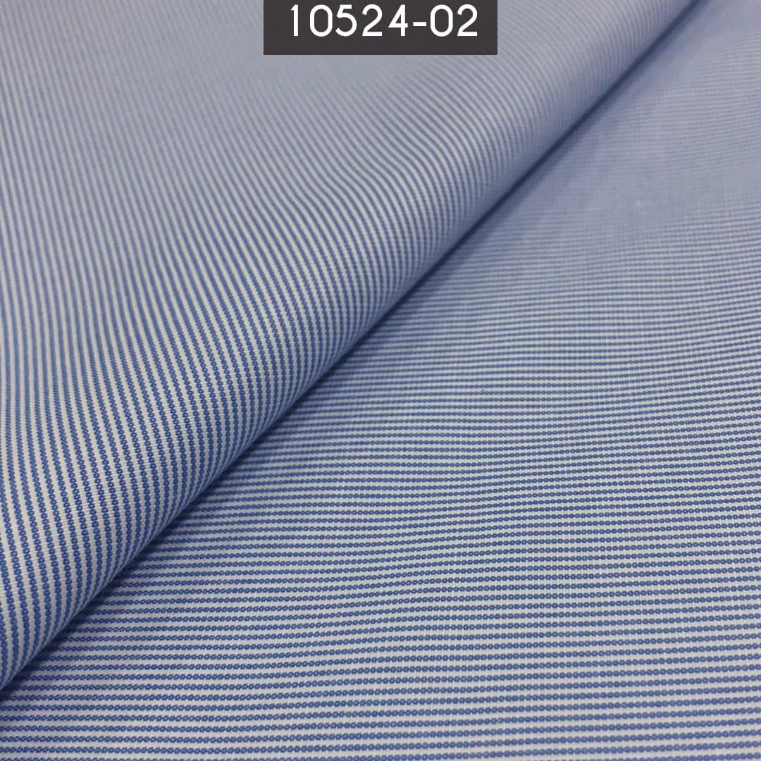 Tecido Tricoline Mista Listrada Azul