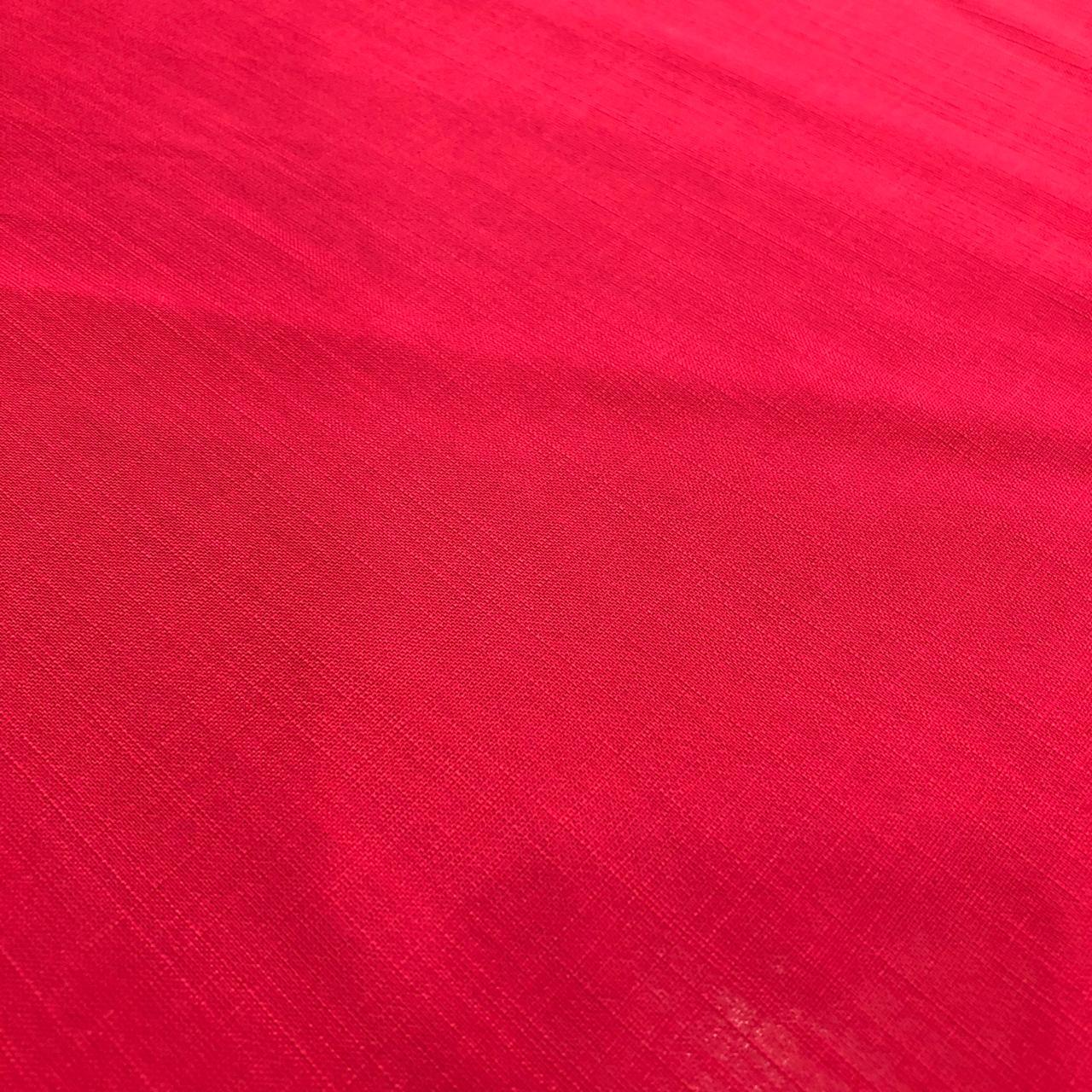 Tecido Viscose Rayon Maquinetada Vermelho