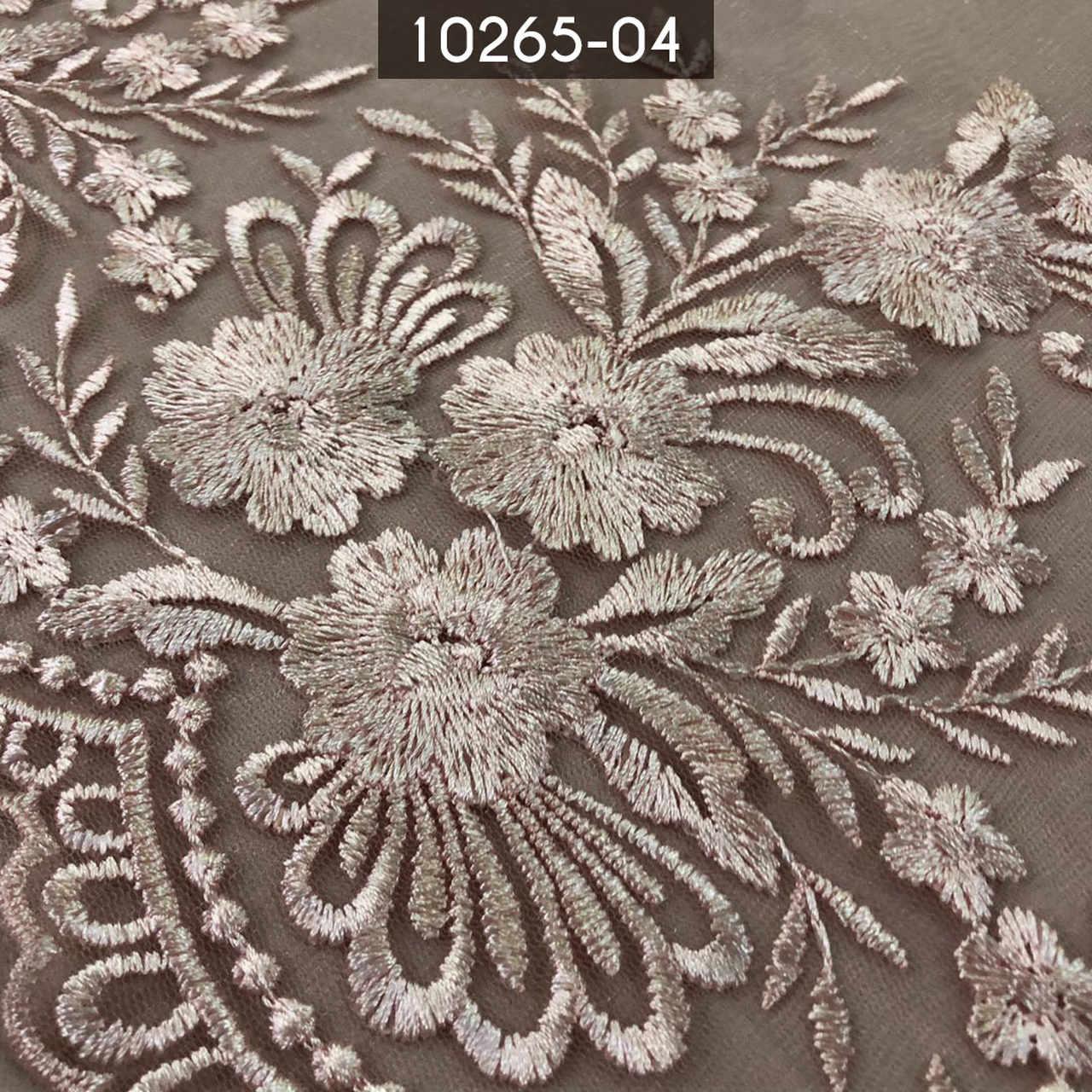 Tecidos Renda Tule Floral Bordado Em Linhas Rosa Bebe