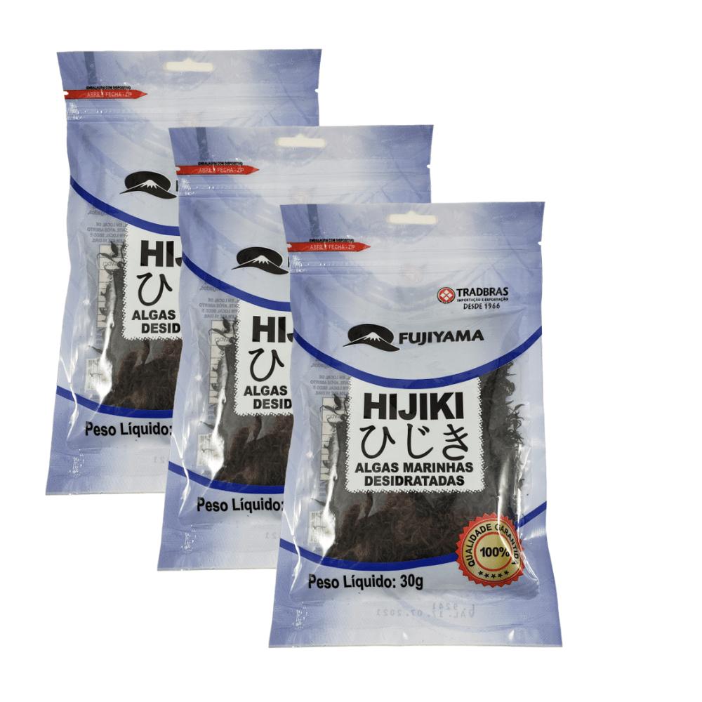 Alga Marinha Hijiki Fujiyama Kit 3 Pacotes