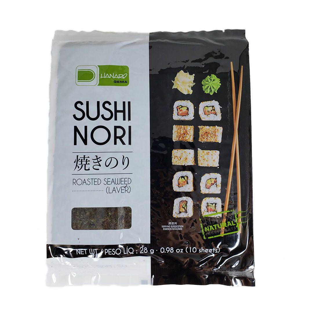 Alga Marinha Nori para Sushi e Temaki Yakinori Hanaro 10 Folhas