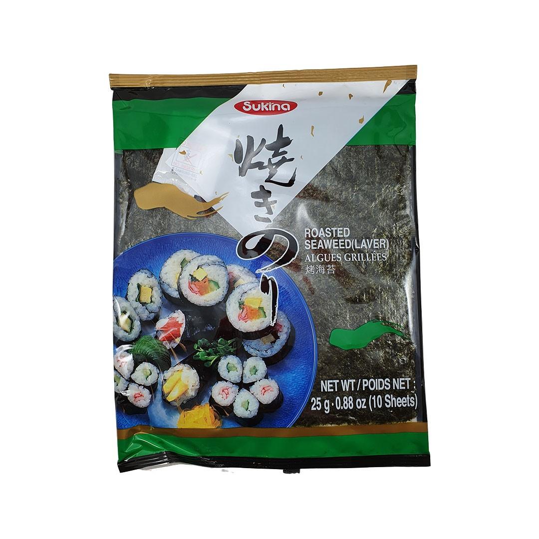 Alga Marinha Nori para Sushi e Temaki Yakinori Sukina 10 Folhas