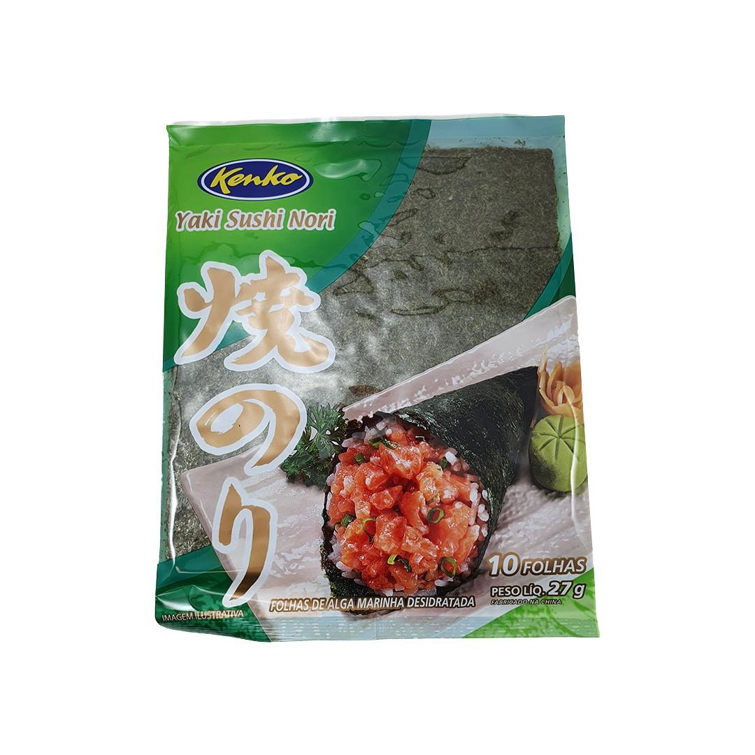 Alga Marinha Nori para Sushi e Temaki Yakisushinori Kenko 10 Folhas