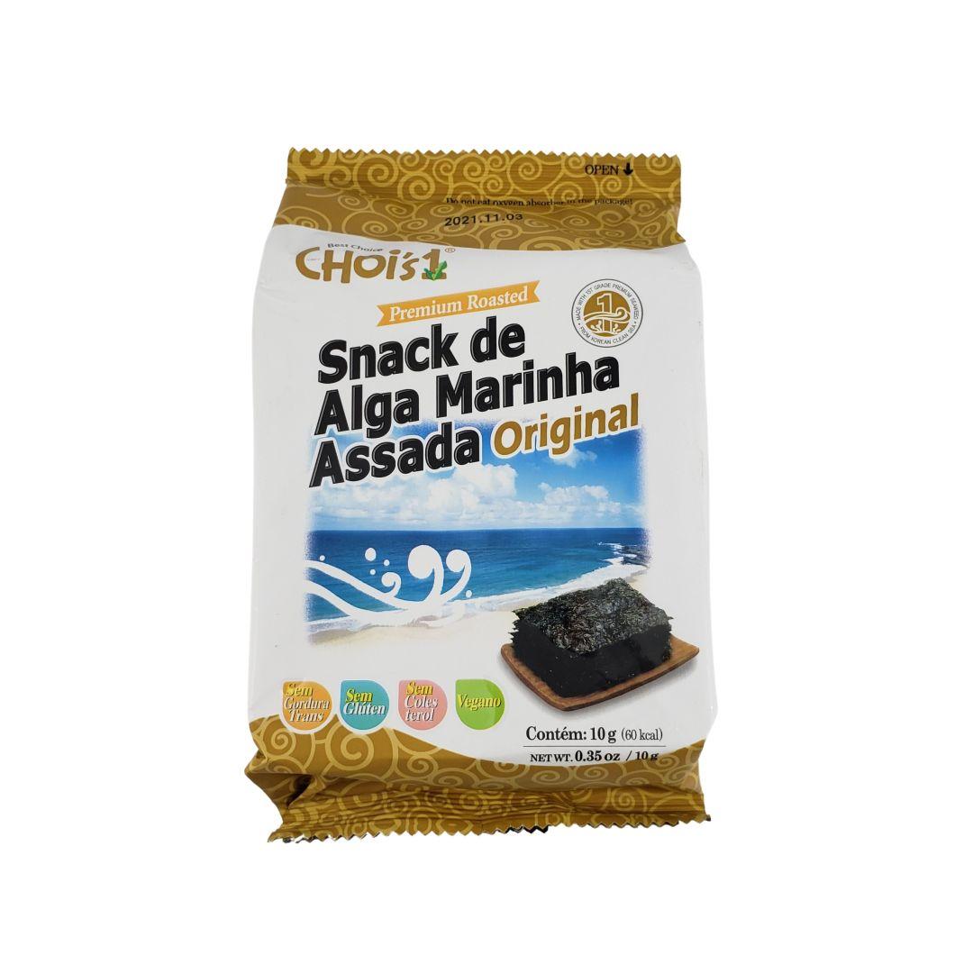 Alga Marinha Nori Temperada Assada Aperitivo Snack Original Dae Chun 10g