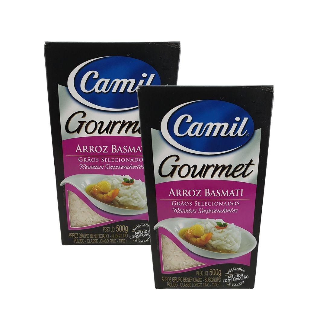 Arroz Basmati Gourmet Camil 500g Kit 2 unidades